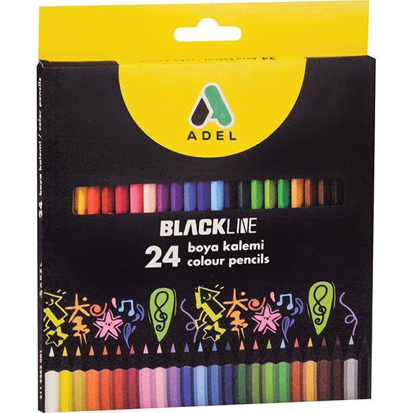 Adel Blackline Colour Pencils - 24